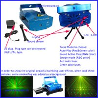 Wholesale Dj Lazer Lights - DHL EMS free shipping High quality mini laser light party light holiday dj light lazer luz christmas decoration new year decoraiton light