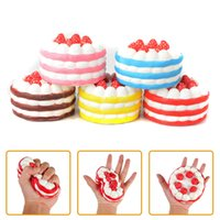 Wholesale Shapes Toys - 2018 hot sale Squishy Slow Rising Strawberry Cake and Heart-shaped cake Slow Rising 15s Cream Cake