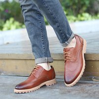 Wholesale Oxford Brogue Shoes - Oxford Shoes For Men Classic Brogue Mens Fashion Exquisite Italian stitches Choiceness Cowskin Shoes Man 39-44 Retail H114