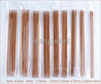 Wholesale Knitting Needle Double Point - Wholesale-Promotion! 5 sets 2-10mm 15 sizes Carbonized Bamboo Knitting Needles for Sweater 15*5 PCS 20cm 8 Double Point b8 SV001571