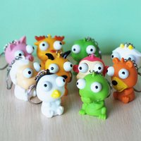 Wholesale Doll Phone Charms - 100pcs lot Mixed colors Vent extrusion squeezable cartoon small toys   decompression toys   rubber soft winking Cell Phone keychain doll