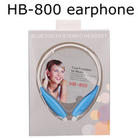 Wholesale Bluetooth For Note2 - High quality HB-800 Sport Neckband Headset In-ear Wireless Headphones Bluetooth Earphones Stereo  8 colors For samsung NOTE3 NOTE2 S4 S5 5S