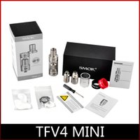 Wholesale Best Tank Top Quality - Top Quality Smok TFV4 Mini Atomizer 3.5ml TFV4 Mini Sub ohm Tank TFV4 Mini Full Kit Best Match X Cube 75W