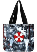 Wholesale Umbrella Bag Free Shipping - Wholesale-Shopping Bags free Shipping Umbrella Corporation Background Printed Fashion Canvas Tote Bags Women And Girl Shoulder Shopping