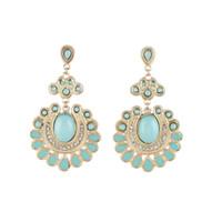 Wholesale Designer Gemstone Earrings - Fashion Drop Earrings Feather Designer Enamel elegant Earrings For Women Created Gemstone Jewelry