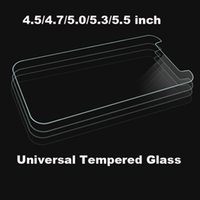 iphone 4.7 5.5 protetor de tela venda por atacado-Universal 4.5 4.7 5.0 5.3 5.5 polegadas Premium Real Protetor de Tela de Vidro Temperado Para ALCATEL WIKO iPhone