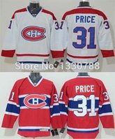 Hombres Canadienses Auténticos Montreal Canadiens Carey Price Jersey Red Home Blanco Away Stitched # 31 Canadienses Hockey Hielo Jersey 2016