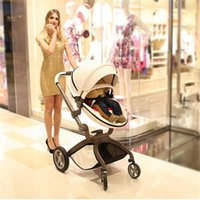 Wholesale Stroller Shock Absorbers - Baby Stroller High Landscape Baby Car Umbrella Light Inflatable Wheel Child Strollers Babyby Shock Absorbers Baby Trolley
