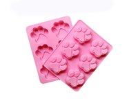 Wholesale Christmas Cookie Shapes - Christmas Chocolate Mould Fingerprint Shape Cake Mold Silicone Fondant Mould for Cookie Cake Biscuit Jelly Baking Tools Free Shipping