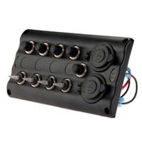 Wholesale Waterproof Marine Switch Panel - Marine Boat 4 Gang LED Toggle Switch Panel Waterproof With Breaker Socket New
