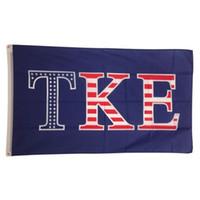 Wholesale cm festival - TKE USA Letter National Outdoor Festival party House Banner flag Custom USA Hockey Baseball College Basketball Flags