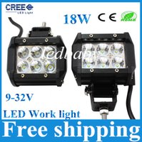 "Wholesale Led Lights For Atv - 4"" inch 18W Cree LED Work Light Bar Lamp for Motorcycle Tractor Boat Off Road 4WD 4x4 Truck SUV ATV Spot Flood 12v"