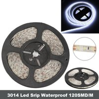 16.4 FT 3014 LED striscia nastro impermeabile 5M 600 SMD Bianco Epoxy IP65 8mm larghezza 12V DC, striscia luminosa a LED più brillante di 3528 5050 SMD Strip DHL