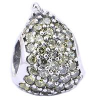 charmes de poire achat en gros de-Sterling Silver Charms 925 Ale strass Yelow Pear Charmes Européens pour Pandora Bracelets DIY Perles De Fruits Accessoires