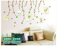 spring tree wall decal - Medium Love Spring Tree Leaf DIY Photo Frame Wall Stickers Home Decor Wall Decals For Living Rooms Bedroom