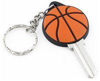 баскетбольные замки оптовых-100 штук цветных резиновых 3d заготовок для ключей от BASKETBALL в KW10 для замков Kwikset или SC1 для замков Schlage