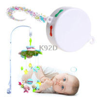 Compra Mobili Per Bambini-All'ingrosso Rotary Baby Mobile Culla Bed Toy 12/35 canzoni Music Box Movimento camper vivaio N01