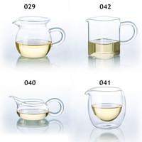 gotas de té al por mayor-Clases de té de vidrio transparente resistente al calor que sirve la jarra chino Gong fu Cha Hai Envío de la gota