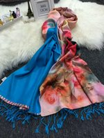 Wholesale Retro Brushes - Double-sided Brushed Shawl 95% Silk +5% Spandex Retro Jacquard Autumn and Winter Women Fashion Long Soft Scarf With Spike Pink
