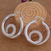 Wholesale Chandelier Thread - Fashion (Jewelry Manufacturer) 20 pcs a lot Twisted Thread earrings 925 sterling silver jewelry factory price Fashion Shine Earrings