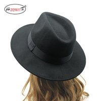 Wholesale Ancient Army - Wholesale-2015 Fedora Hat For Women and Men Cappelli Woman Hat Winter Cap Women ancient Harajuku wide brimmed Sombrero