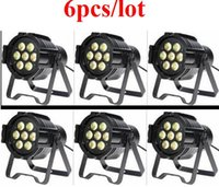 Wholesale Mini Par Can - free shipping 6pcs lot RGBWA+UV 6IN1 18W led mini par can for party stage light