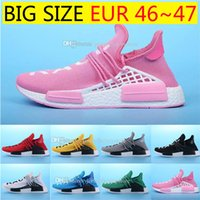 Wholesale Factory Racing - Big size Human Race NMD Factory Real Boost Yellow Red Green Black Orange NMD Men Pharrell Williams X Human Race NMD Running Shoes Sneakers