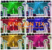 Wholesale Good Quality Curtains - Good Quality And Best Price 100% Ice Silk Wedding Backdrop Curtain Stage Backround For Event Decoration