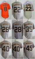 Wholesale M Moore - San Francisco Hunter Pence Christian Arroyo Will Clark Buster Posey Crawford Bumgarner Moore Flexbase Jerseys Cool Base Stitched Grey Orang