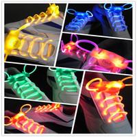 Wholesale Laser Shoe Laces Wholesale - LED Flashing Shoelace Light up Shoe Laces Laser Shoelaces Fashionable Jump Change Glow Dark Shoelaces