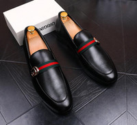 Wholesale New Wedding Men Shoes - 2017 New style Italian Men wedding mens party shoes genuine leather mens casual business shoes formal office shoes with buckle M73