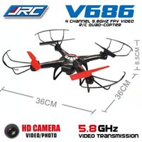 Wholesale Rc Helicopter Camera Ufo - JJRC V686 V686G 6-Axis Gyro 2.4G 4CH 5.8G UFO RC FPV Quadcopter Drone with 2.0MP Camera Helicoptero 10 pcs