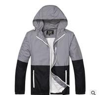 Wholesale Trend Hoodie - Men New thin Splice Camouflage Fashion Trend Hoodies Outdoor Sport Skateboard Jackets Hip Hop Coat men women hooded windbreaker