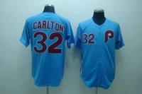 Wholesale Cotton Shorts Online - 30 Teams-Wholesale Blue 32 Steve Carlton Jersey Throwback Baseball Philadelphia Phillies Jerseys Best Quality Embroidery Online Cheap Sale