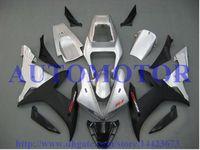 ingrosso parti del motociclo di yamaha r1-Kit carena iniezione per YAMAHA YZF R1 2002 2003 YZF1000 argento nero YZF-R1 02 03 carenatura moto # 76CC