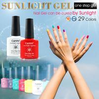 Wholesale Uv Sunlight - 240pcs*7.3ml CANNI Nail Art Design Wholesale 29 Colors Sunlight One Step UV Gel Nail Polish Organic 3 in 1 Gel Polish