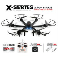 Wholesale Channel Choose - Drone with Wifi FPV HD Camera MJX X600 X-SERIES 2.4G 6Axis RC Hexacopter Quadcopter UFO (Can Choose Upgraded Camera C4015 or C4018)