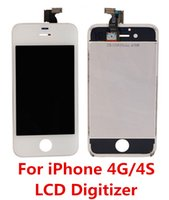 Wholesale Iphone 4s Front Screen Assembly - DHL Free Shipping New Tested LCD Digitizer For iPhone 4 4S GSM CDMA Complete Front LCD Screen Touch Digitizer Full Assembly