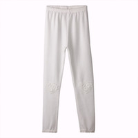 Wholesale girls trousers color for sale - Group buy Pettigirl Retail New Spring And Autumn Pure White Girls Trousers Heart Pattern Flower Girls Pant Chlidren Clothing PT81016