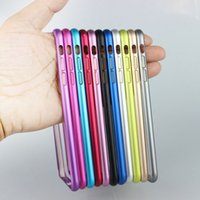 Wholesale Galaxy S4 Thin Bumper - Aluminum Metal Hard Case Slim Ultra Thin Frame Bumper For iPhone 6 6S Plus 4.7 5.5 inch SE 5 5S 4 4S Galaxy S6 S5 S4 Note 4 3 DHL 200pcs