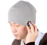 Wholesale Novelty Hand Warmers - Soft Warm Beanie Hat Wireless Bluetooth Smart Cap Headphone Headset Speaker Mic Hands-free for Men Women cap hat Free DHL