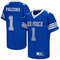 Maillots de football universitaire NCAA Toddler Colosseum # 8 Royal Air Force Falcons Football Jersey personnalisé jersey throwback authentique pas cher femmes usa