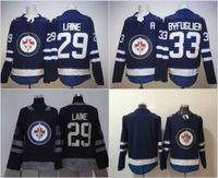 Wholesale Winnipeg Jersey - 2017-18 Winnipeg Jets Jerseys 29 Patrik Laine 33 Dustin Byfuglien Blank Blue Jersey 100% Stitched Hodkey Jerseys