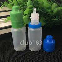 botellas de manipulación de 15 ml al por mayor-Gran calidad Venta al por mayor 15ml PE tapa a prueba de manipulaciones con cierre a prueba de niños botella de plástico botella de aceite de e-cig líquidos