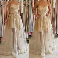 Wholesale Long Pretty Formal Dresses - Pretty Applique 2018 Long Bridesmaid Dresses Sweetheart Neckline Floor Length Party Gowns Sleveless A Line Formal Prom Dress