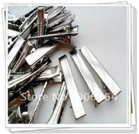 Gros-150pcs / lot gros clips Broche Barrettes New Prong Trouver, clips alligator, le crocodile Clips 45mm Fit Bijoux bricolage