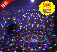 ingrosso dmx 512 remoto-Telecomando Adsled 9 LED DMX 512 Bellissimo effetto Crystal Magic Ball Light DMX Disco DJ Stage Lighting