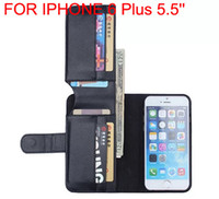 Gros-New Business Wallet Design de Stands en cuir PU Avec 6 Porte-cartes flip couverture de cas pour Apple iPhone 6 6Plus 5s 5c 5g 4s 4 4g
