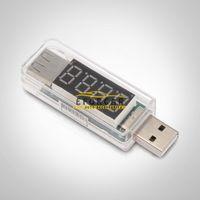 probador de voltios usb al por mayor-Probador de voltaje del medidor de voltímetro de corriente del voltímetro USB del coche para el detector de corriente de voltaje del cargador USB del teléfono móvil