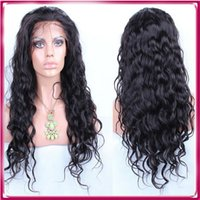 Wholesale Long Curly Beautiful Wigs - 100% Human Hair Full Lace Wigs Hand Tied Body Wave Virgin Brazilian Beautiful Wig